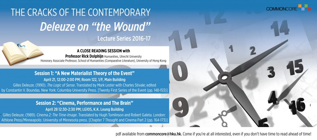 """THE CRACKS OF THE CONTEMPORARY  Deleuze on """"the Wound"""""""